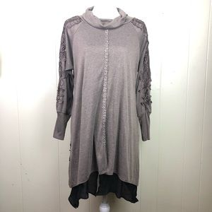 Pretty Angel Layered Embroidered XL long blouse
